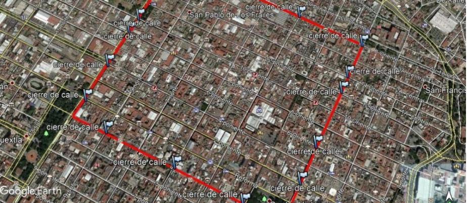 El Centro Histórico de Puebla cierra desde HOY su acceso