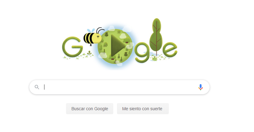 Google dedica su doodle a las abejas en el 50 aniversario del Día de la Tierra