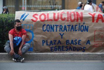 Protesta la CNTE en Michoacán; exigen pago de salarios