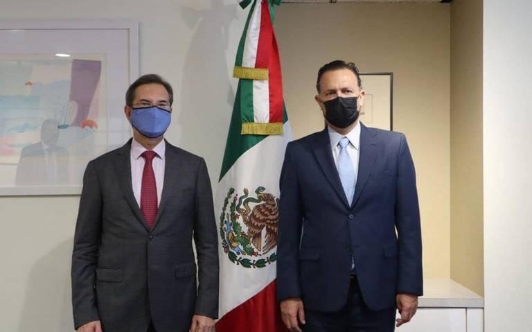 Mauricio Kuri se reúne con Esteban Moctezuna en EU
