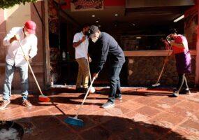 Anuncian nueva jornada de limpieza para el Centro Histórico de Querétaro